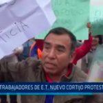 Trabajadores de E.T. Nuevo Cortijo protestaron