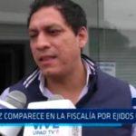 Valdez comparece en la Fiscalía por ejidos de la MPT