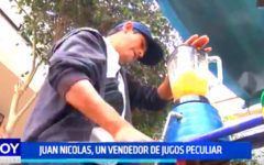 Trujillo: Juan Nicolás, un vendedor de jugos peculiar