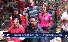 Chiclayo: Estafan a venezolanos que pretendían viajar a Lima