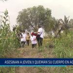 Chiclayo: Asesinan a joven y queman su cuerpo en acequia