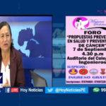Chiclayo: Preventorios contra el cáncer