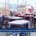 Chiclayo: Mototaxistas exigen rapidez en fallo del Poder Judicial