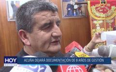 Chiclayo: Acuña dejará documentación de 8 años de gestión