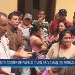 Chiclayo: Moradores de pueblo Joven reclaman celeridad a Alcalde