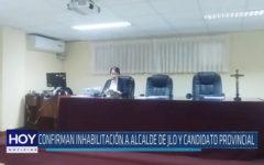 Chiclayo: Confirman inhabilitación a alcalde de JLO y candidato provincial