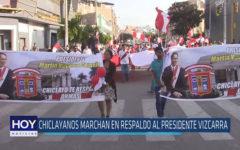 Chiclayo: Chiclayanos marchan en respaldo al presidente Vizcarra