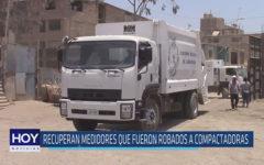 Chiclayo : Recuperan medidores que fueron robados a compactadoras