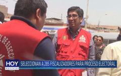 Chiclayo: Seleccionan a 285 fiscalizadores para proceso electoral