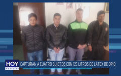 Chiclayo: Capturan a cuatro sujetos con 123 litros de látex de opio