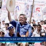 Acuña resalta que APP es el partido con más candidatos
