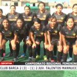 Club Barca derrotó 3 – 1 a Juventud Talentos Mannucci