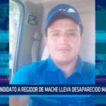 Candidato a regidor de mache lleva desaparecido más de 10 dias