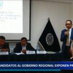 Piura: Candidatos al Gobierno Regional exponen propuestas