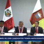 Piura: Más de 2200 candidatos tienen antecedentes penales