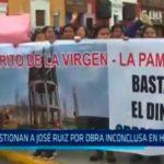 Cuestionan a José Ruiz por obra inconclusa en Huanchaco