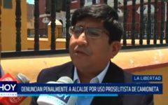 La Libertad: Denuncian penalmente a alcalde por uso proselitista de camioneta