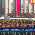Corea del Norte: Desfile militar sin misiles intercontinentales