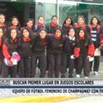 Equipo de fútbol femenino de Champagnat con fe al tope