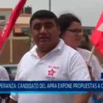 La Esperanza: Candidato del APRA expone propuestas a comerciantes