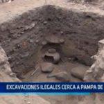 Excavaciones ilegales cerca a Pampa de La Cruz