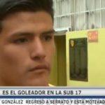 González regresó a Serrato y esta motivado