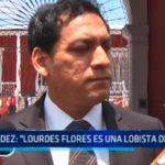 "Valdez: ""Lourdes Flores es una lobista del Perú"""