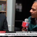 Ministerio de Trabajo interviene en fútbol profesional