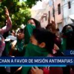 Guatemala: Marcha a favor de misión antimafias de ONU