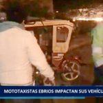 Piura: Mototaxistas  ebrios  impactan  sus  vehículos