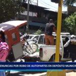 Piura: Denuncias por robo de autopartes  en  depósito municipal continúan