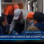 La Libertad: Un muerto y cinco heridos dejó accidente en Huaguil