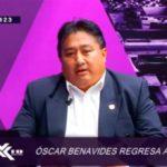 Óscar Benavides regresa al ruedo