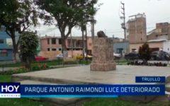 Parque Antonio Raimondi luce deteriorado