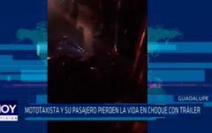La Libertad: Mototaxista y su pasajero pierden la vida en choque con tráiler