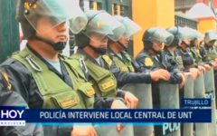 Policía interviene local central de UNT