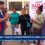 Namay y Sánchez exponen propuestas para La Esperanza