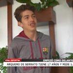 Arquero de Serrato tiene 17 años y mide 1.84
