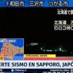 Japón: Sismo de magnitud 6,7 deja varios muertos y desaparecidos en Sapporo