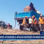 La Libertad: Soldados ayudaron a apagar incendio en Marcahuamachuco