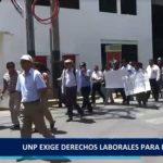 Piura: UNP exige  derechos laborales  para maestros