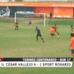 Torneo Centenario: UCV venció 6 – 1 a Sport Rosario