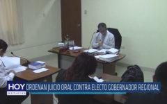 Chiclayo: Ordenan juicio oral contra electo Gobernador Regional