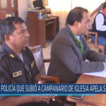 Chiclayo: Policía que subió a campanario de iglesia apela sentencia