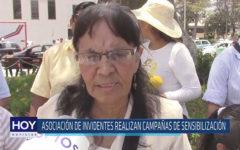 Chiclayo: Asociación de invidentes realizan campañas de sensibilización