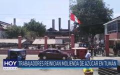 Chiclayo: Trabajadores reinician molienda de azúcar en Tumán