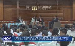 Chiclayo: Se realizó réplica CADE universitario en Lambayeque
