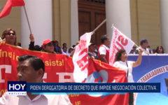 Chiclayo: Piden derogatoria de decreto que impide negociación colectiva