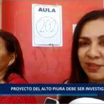 Piura: Proyecto del alto Piura debe ser investigado