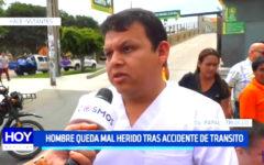 Trujillo: Hombre queda mal herido tras accidente de tránsito